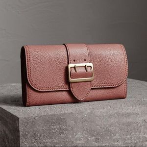 NEW Burberry Textured Leather Continental Wallet